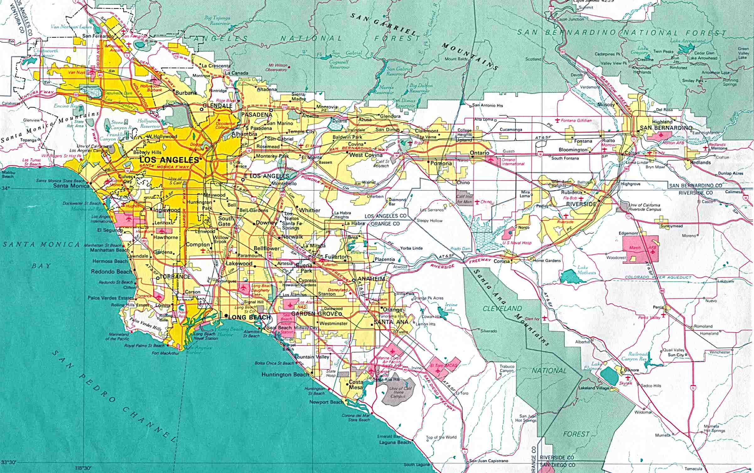 list of districts and neighborhoods of los angeles