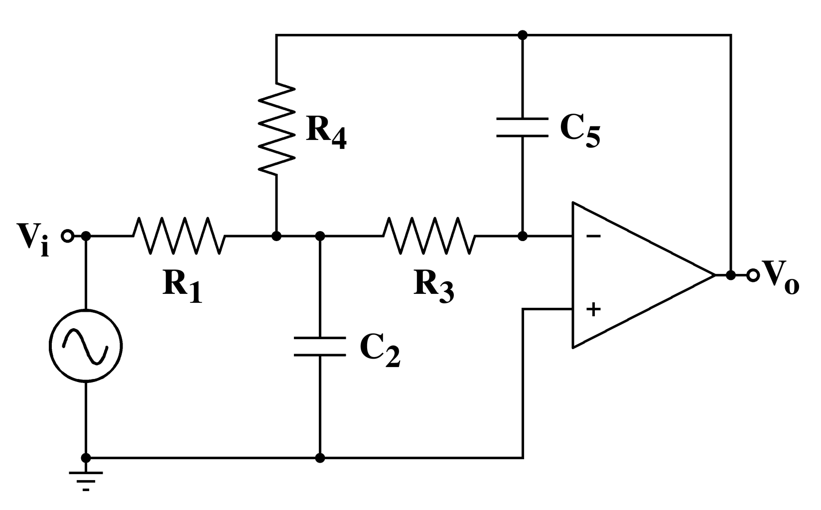 Electronic Filter Topology Circuits Bridge Image Impedance Multiple Feedback Circuit Is An