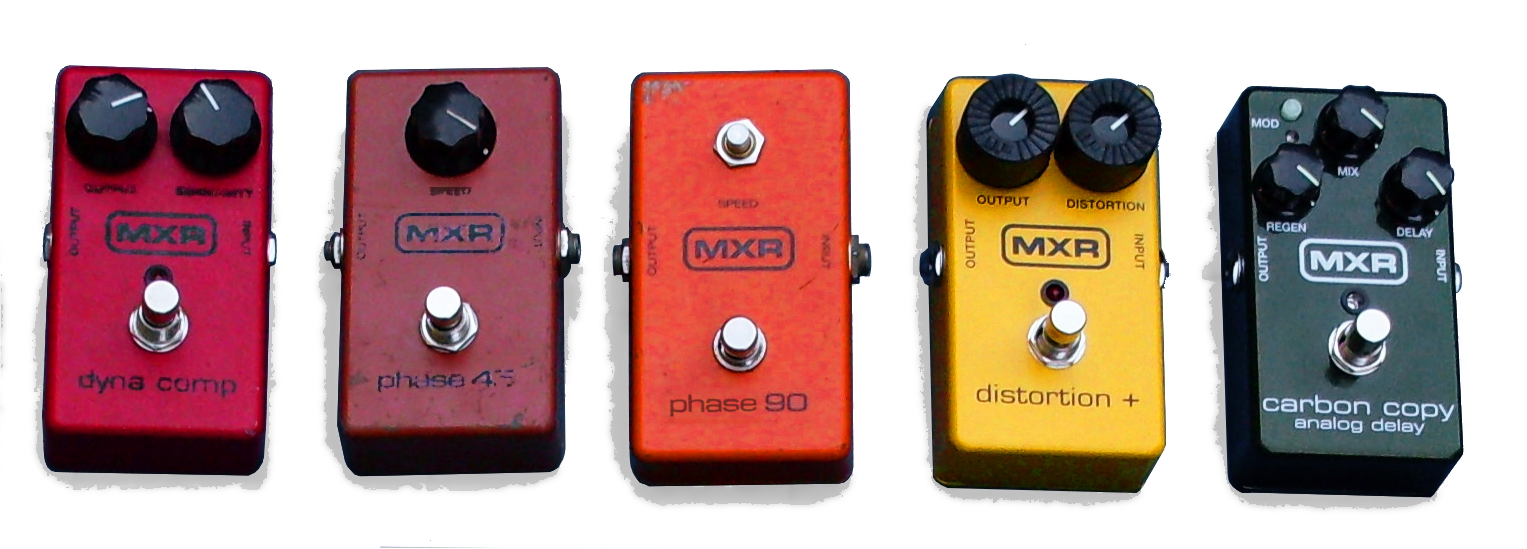 Mxr 147 Pedals Simple Tone Control Brian May Treble Booster Dyna Comp Phase 45 90 Distortion Carbon Copy