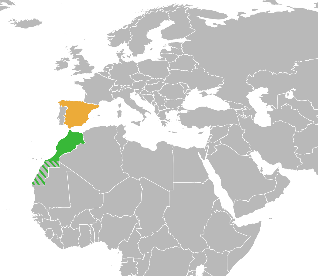 Map Of Spain Morocco And Portugal.Spain And Morocco Teriz Yasamayolver Com