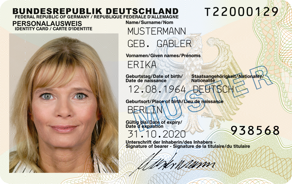 Identity document main article german identity card pronofoot35fo Gallery