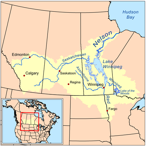 Nelson River Map Canada Nelson River