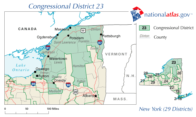 Us congressional district map new york