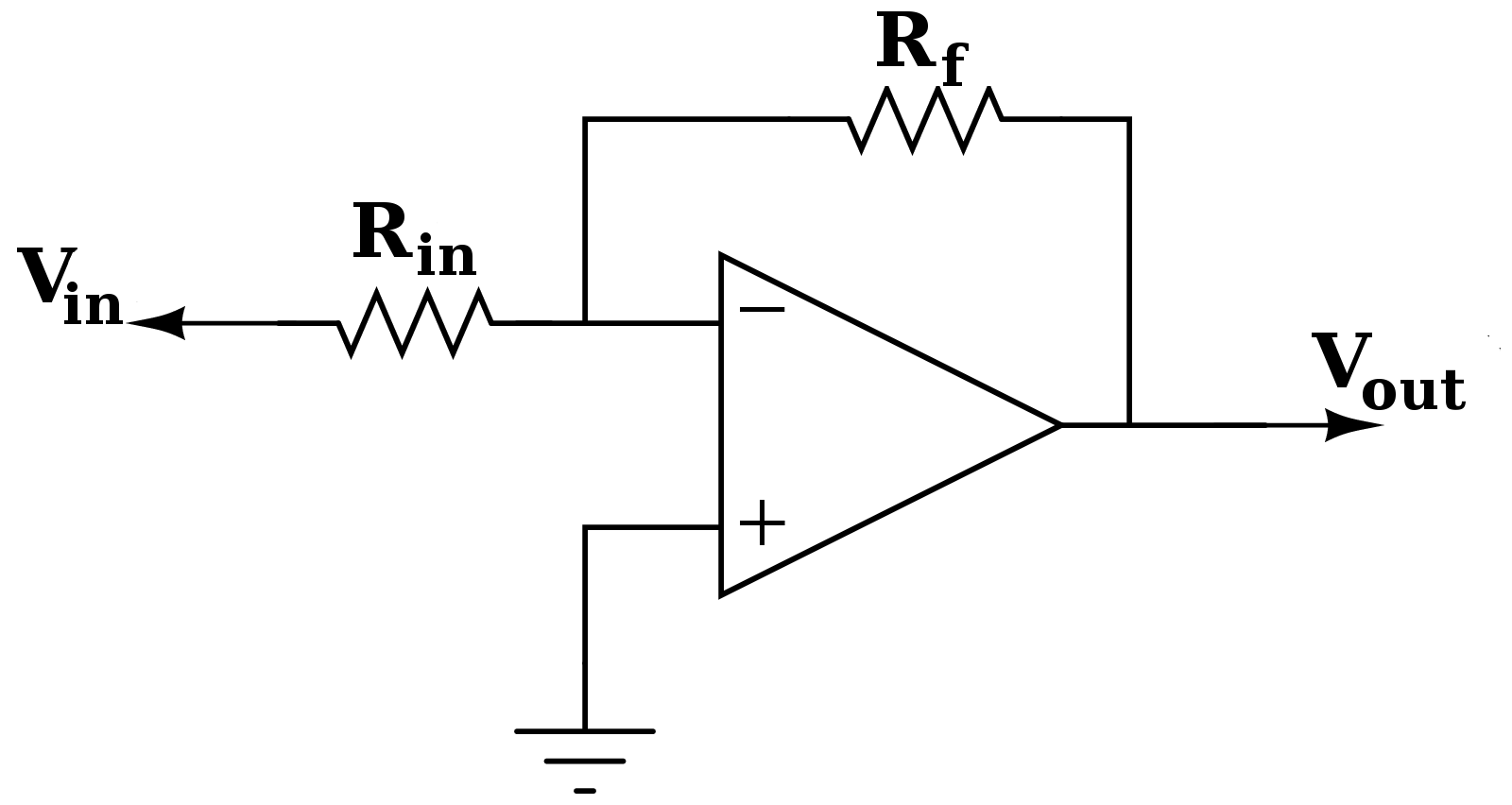 Current To Voltage Converter Op Amp Application Inverting Amplifier Configuration Of An Becomes A Transimpedence When Rin Is 0 Ohms