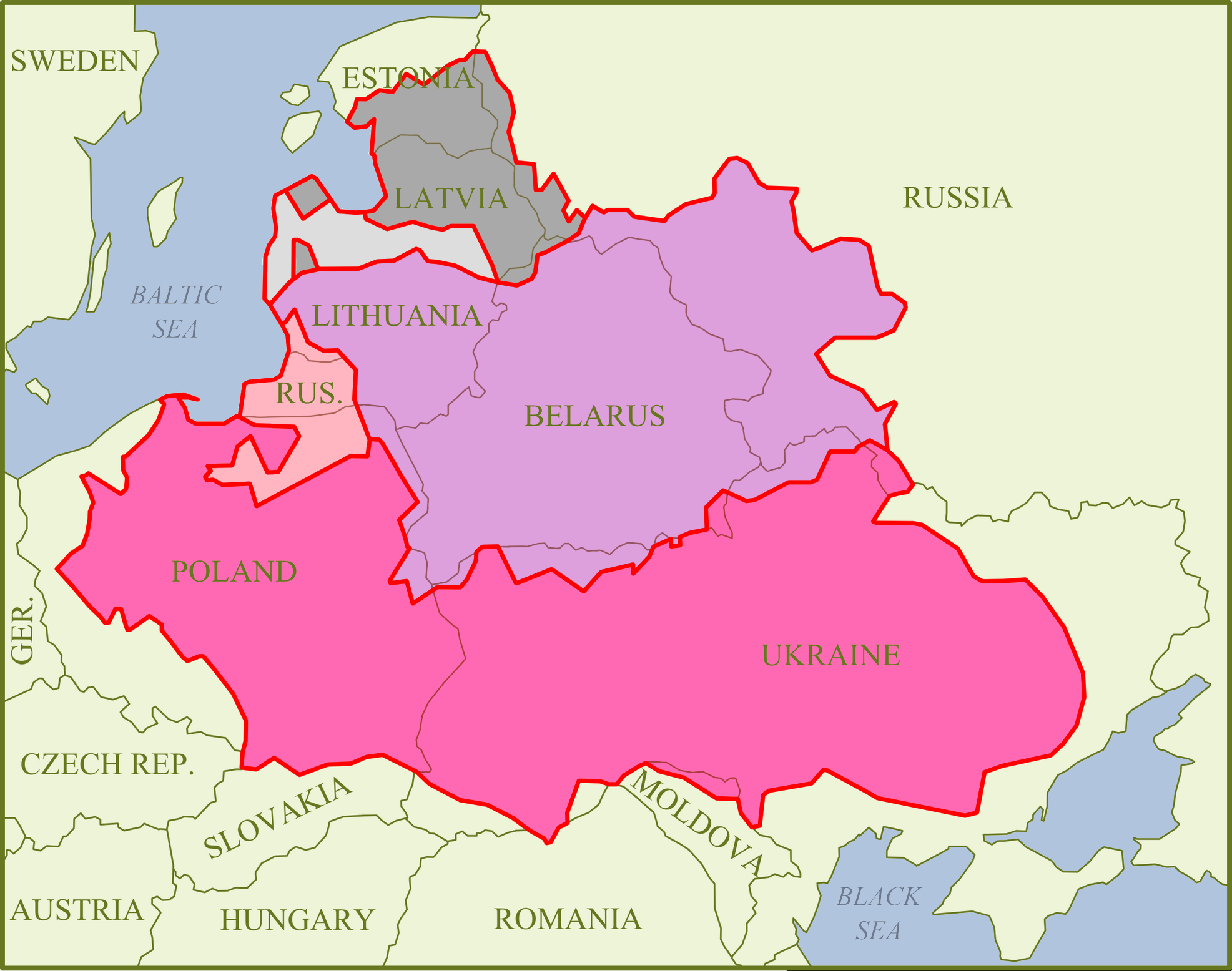 Crown Of The Kingdom Of Poland - Poland political map