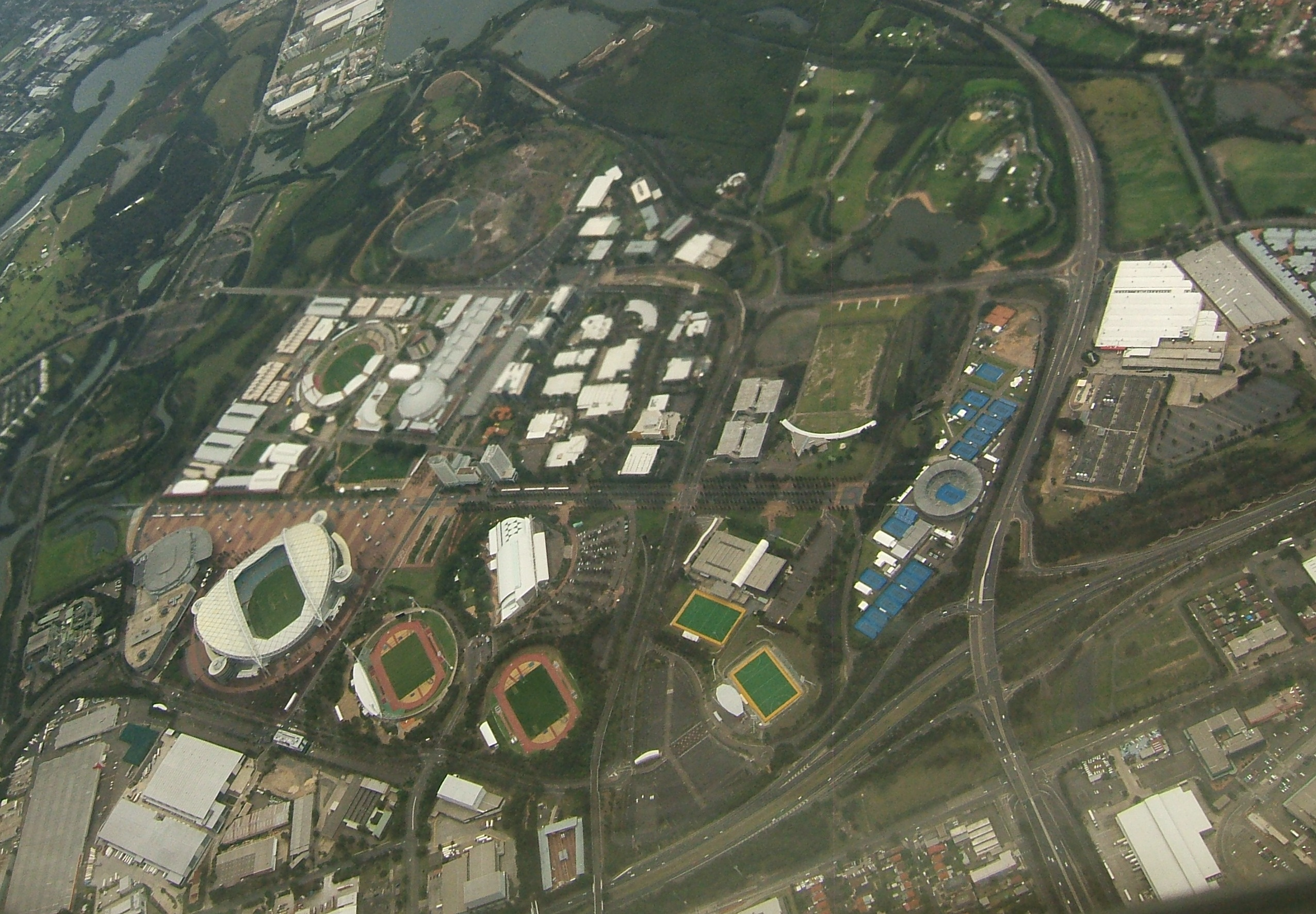 Aerial Image Of Sydney Olympic Park Looking North