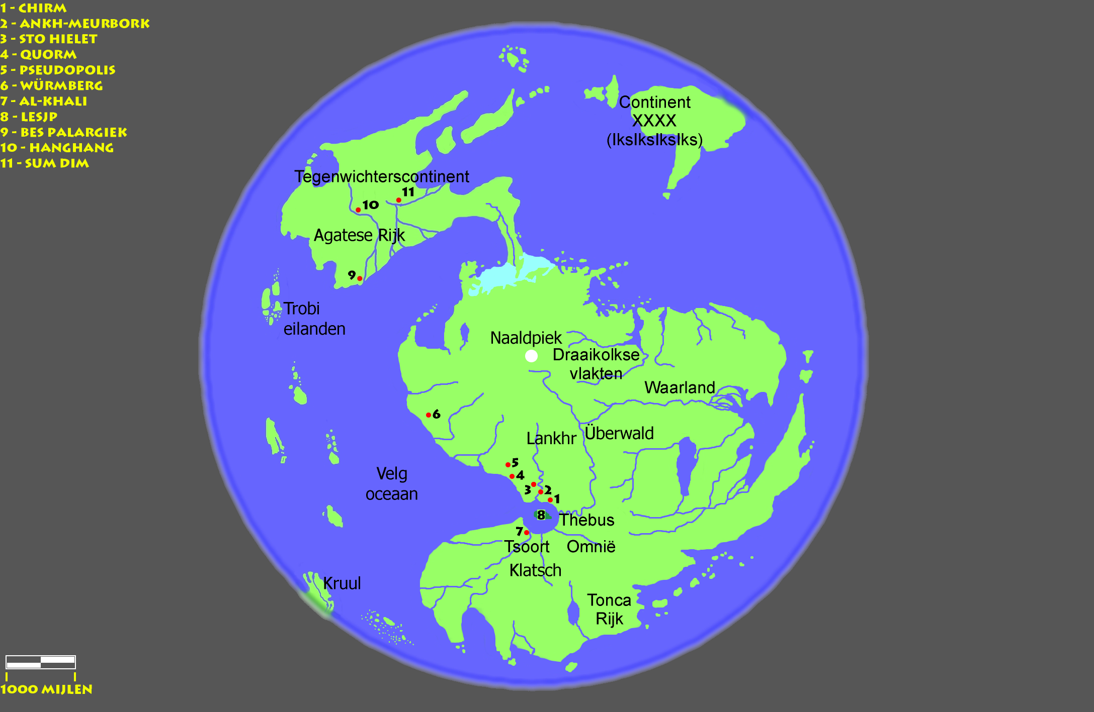 Disc World Map.Discworld Geography
