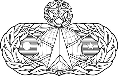 Space And Missile Badge - Air-force-occupational-badges