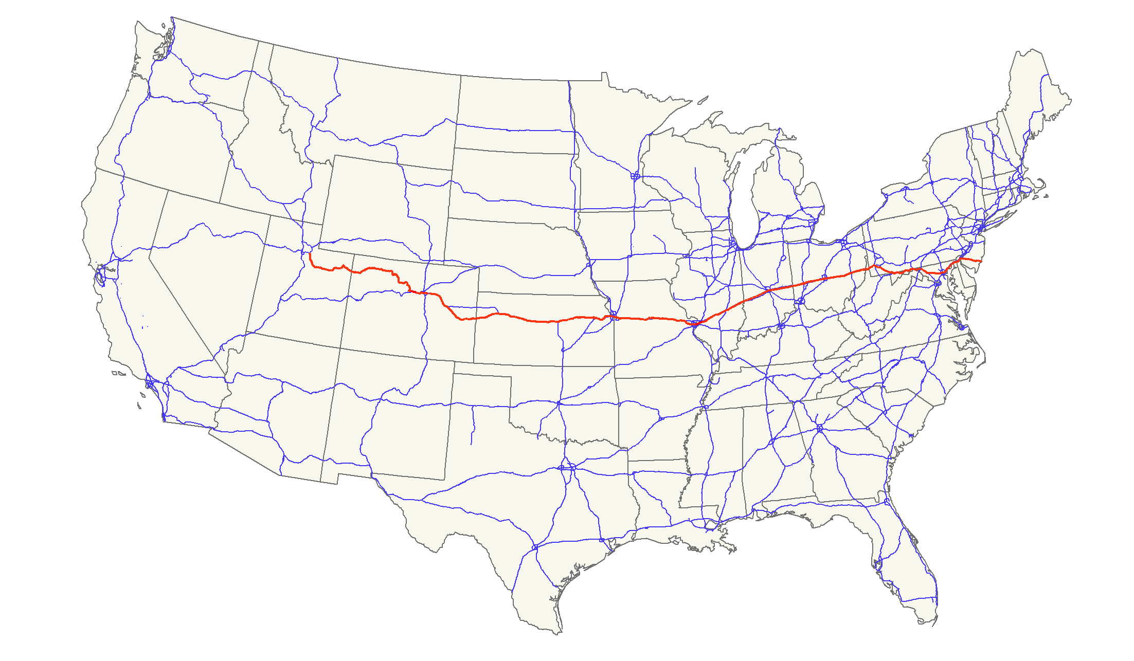 US Route - Map of us highways roads