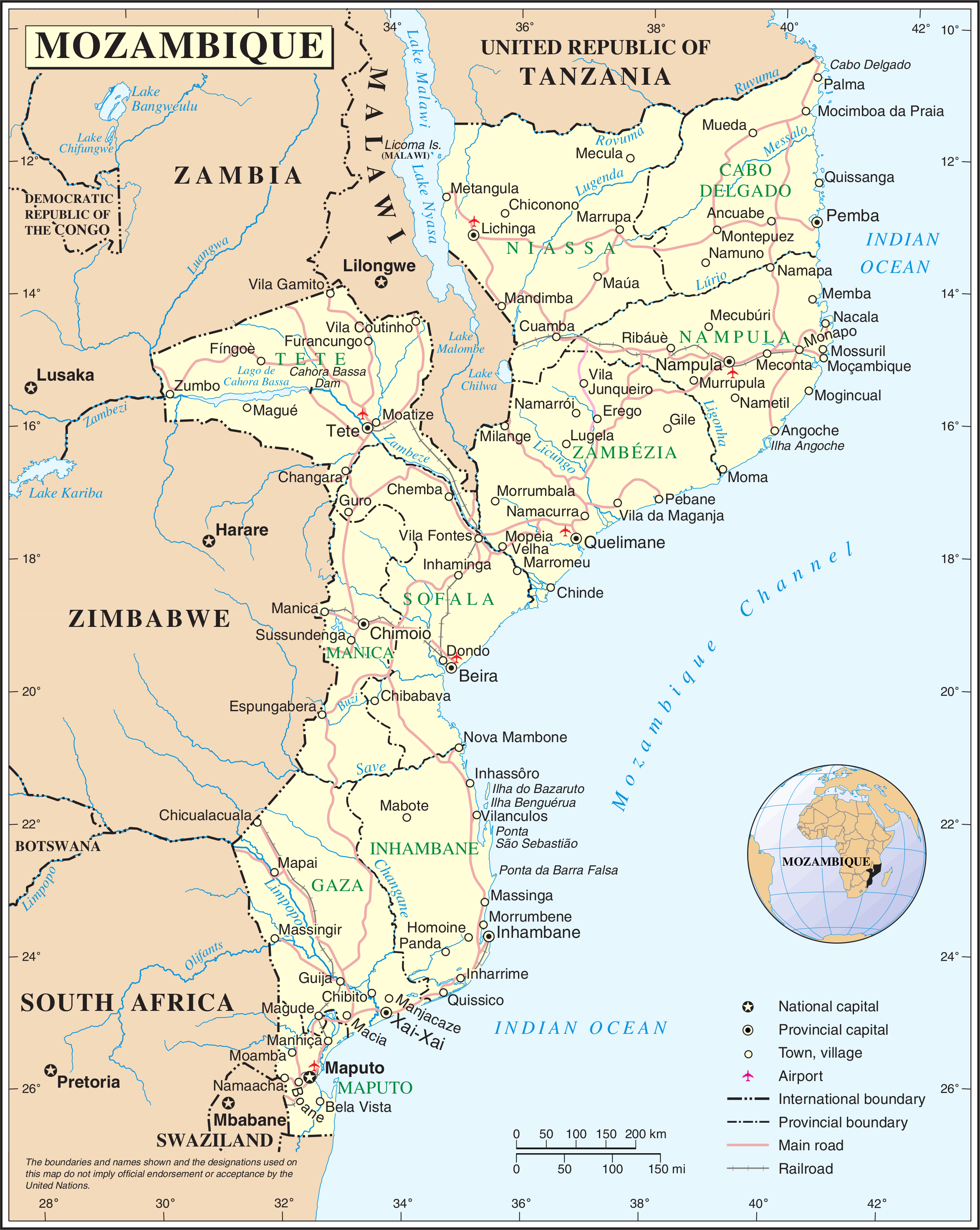Outline of Mozambique