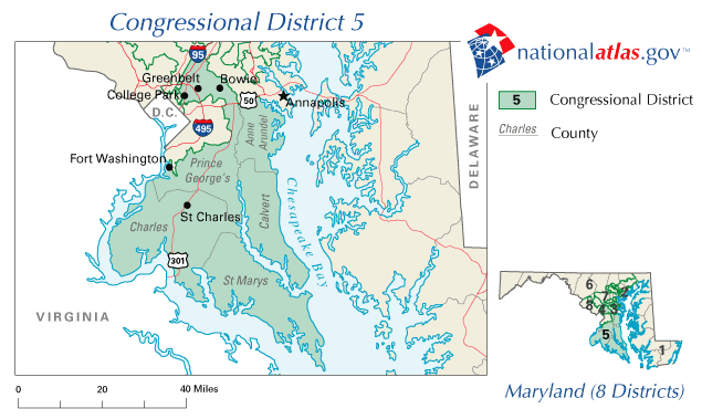 Hoyer Minnesota Map.Maryland S 5th Congressional District
