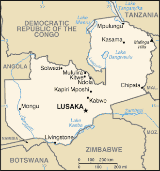 List of cities and towns in Zambia